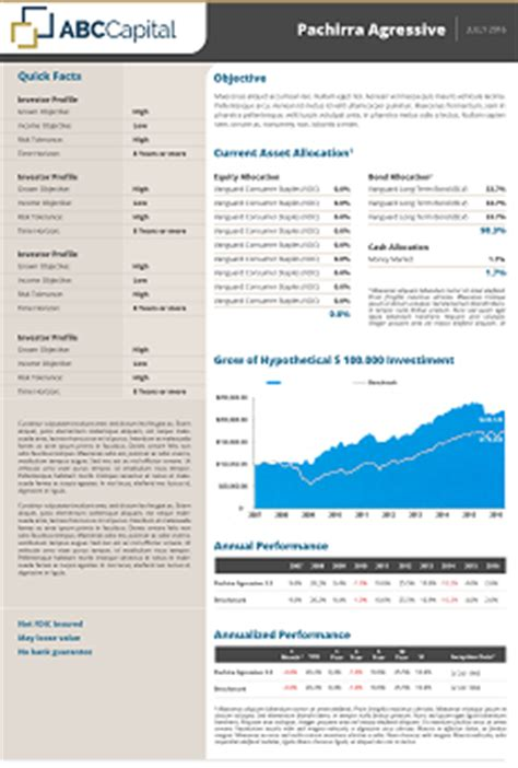 fund fact sheet template topsheets fund factsheet production products fundpeak