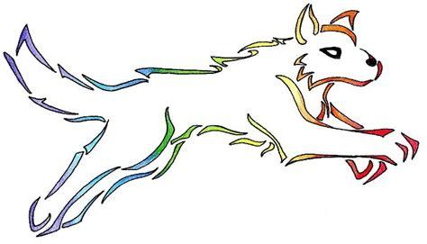 imagenes para dibujar tribales tribales a color de lobos imagui