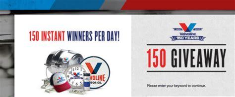 Valvoline Giveaway - valvoline 150 giveaway sun sweeps