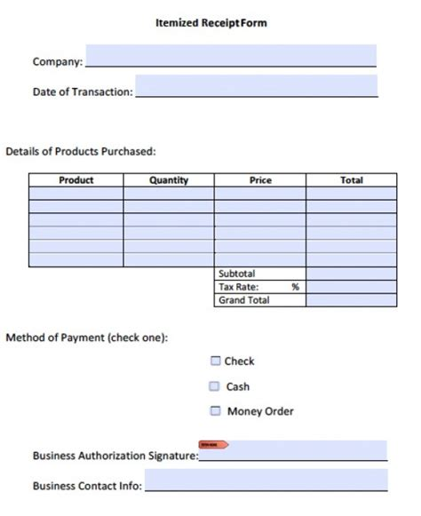 Itemized Invoice Template Invoice Exle Itemized Receipt Template