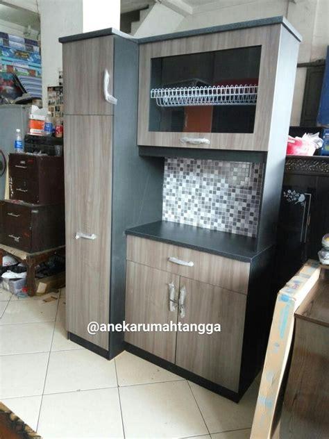 Rak Piring Kitchen Set jual rak piring lemari piring sliding minimalis coklat