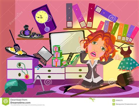 messy bedroom cartoon woman in a messy room cartoon stock illustration image