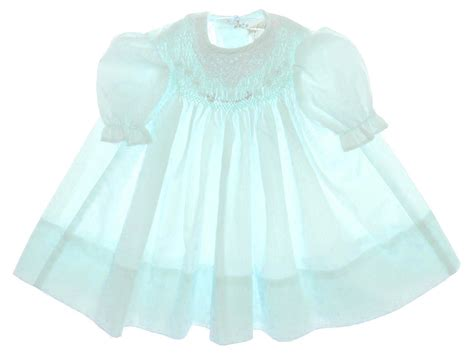 Polly flinders green smocked baby dress with cotton lace collar green smocked polly flinders