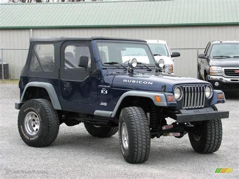 dark blue jeep 1997 dark blue pearl jeep wrangler rubicon 4x4 24436635
