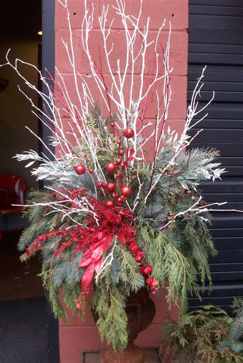christmas urn designs urn decor ideas urns painted branches and branches