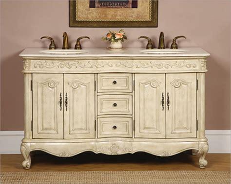 silkroad 58 quot double bathroom vanity crema marfil top