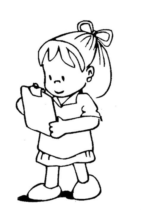 girl writing coloring page girl writing information free coloring pages coloring
