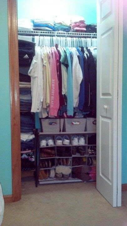 organizing small closet organized small closet d i y pinterest