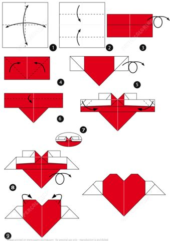 How To Make Origami Hearts - how to make an origami with wings free printable