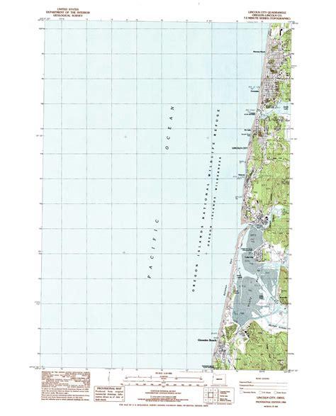 map lincoln city oregon lincoln city topographic map or usgs topo 44124h1