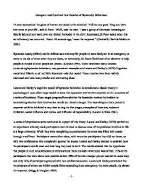 Free Compare And Contrast Essay Exles College by Comparison And Contrast Essay Exles