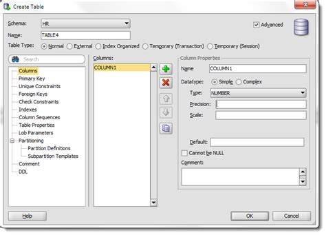 Create Table In Oracle by New And Improved Create Table Dialogs In Oracle Sql Developer 4 Thatjeffsmith