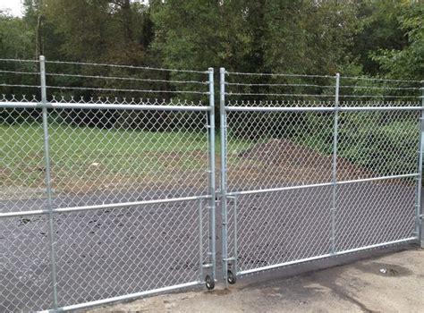 chain link swing gate chain link fence gate on wheels peiranos fences chain