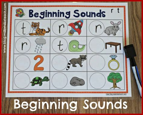 kindergarten activities with magnetic letters templates for learning beginning sounds use with dry