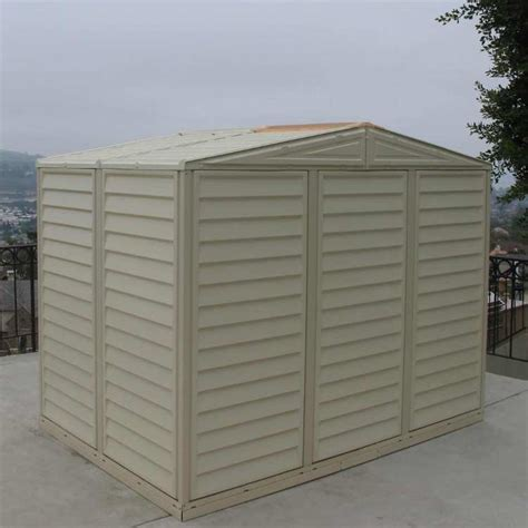 duramax 8x6 duramate vinyl shed with foundation 00184