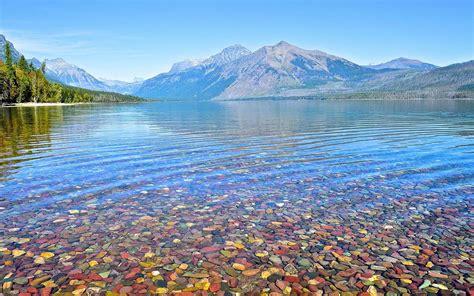 lake mcdonald montana colored rocks beautiful pebbles of lake tourism 2016 usa travel lake