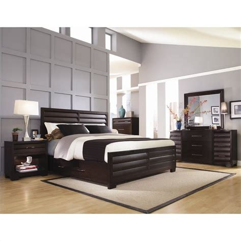 pulaski bedroom sets pulaski tangerine 330 panel storage bed 5 piece bedroom