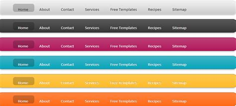 css top menu bar how to add fancy css3 jquery laval menu for blogger