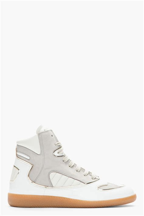 cadillac sneakers maison margiela white grey leather cadillac sneakers in