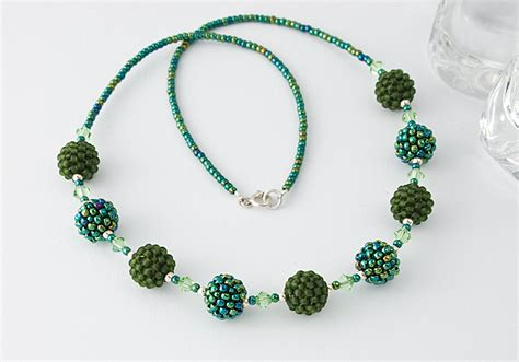 how to bead a necklace green beaded bead necklace by ciel creations