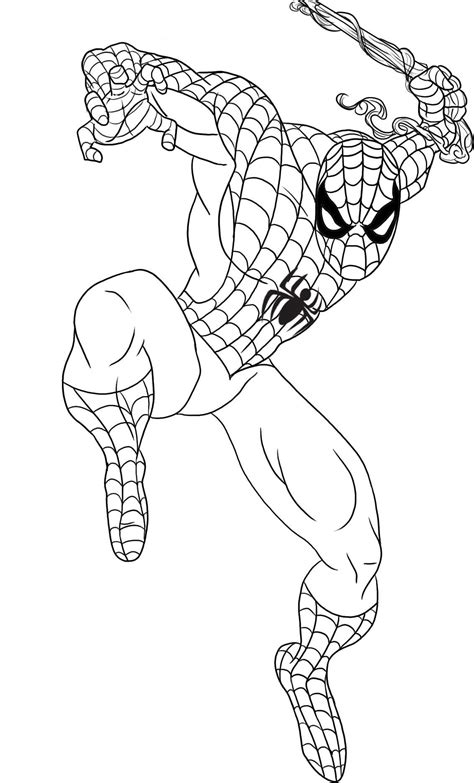 free coloring pages of spider man and friends