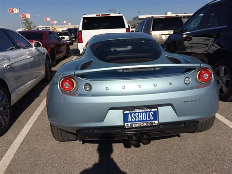 Home Design Ideas Native offensive upside down license plate makes this lotus a