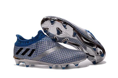 Adidas 2016 Messi 16 1 Fg Ag Soccer Cleats Football Shoes Blue Silver adidas messi soccer cleats
