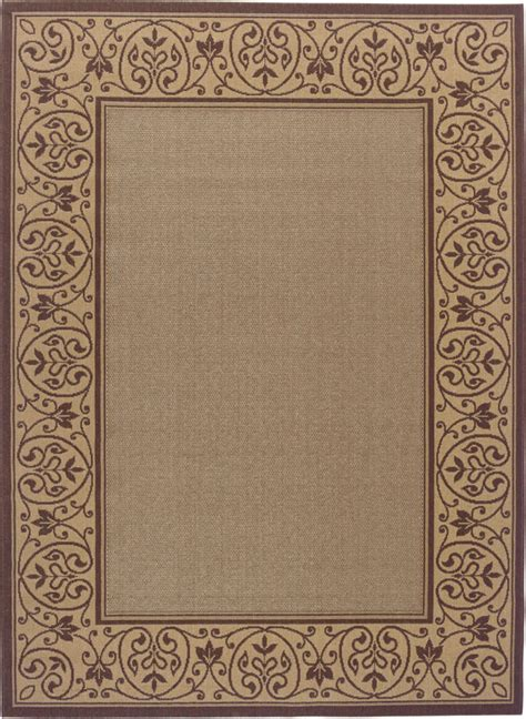 5x8 Outdoor Rugs Casual Vines Outdoor Carpet 5x8 Border Scrolls Patio Area Rug Actual 5 3 Quot X7 6 Quot Ebay