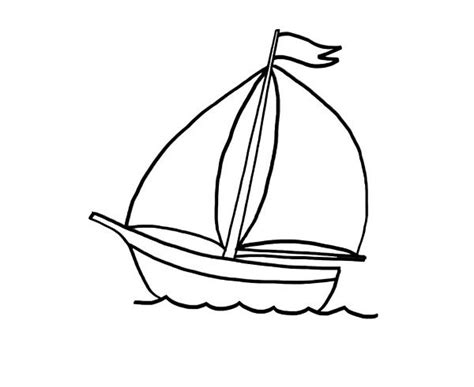 dibujos infantiles para colorear de barcos barco de velas dibujo para colorear e imprimir