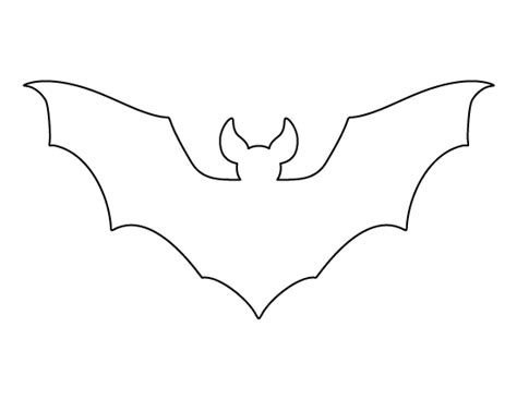 bat templates free printable page bat pattern use the pattern for