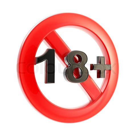 in color age limit content as age limit 18 symbol sign isolated