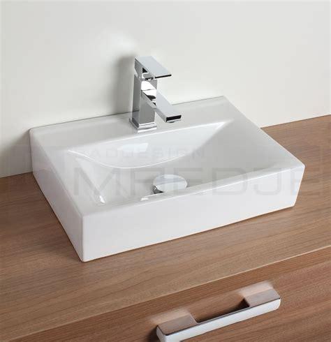 design waschtisch aufsatzbecken quot quadro quot wei 223 45 5 x 30 - Waschtisch Aufsatzbecken