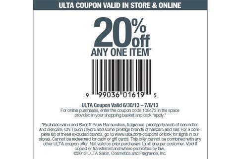 ulta printable discount coupons ulta beauty 20 off printable coupon
