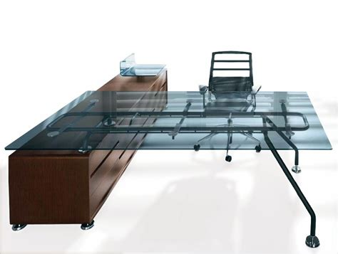 Executive Glass Office Desk Balma Xeon Executive Glass Office Desk