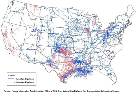 us transmission grid map u s and gas pipelines