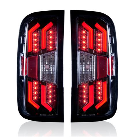 chevy silverado led tail lights winjet 2014 2016 chevy silverado led tail lights black