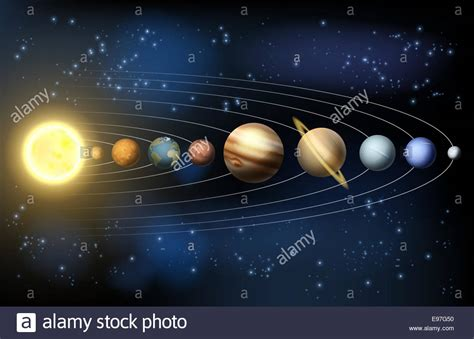diagram of planets orbiting the sun solar system illustration of the planets in orbit around