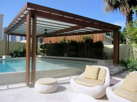 pergola over pool contemporary landscaping pinterest