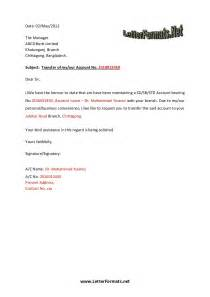 Authorization Letter For Bank Account Opening Bank Account Transfer Letter