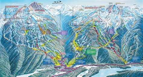 whistler canada ski map whistler blackcomb trail map mike riddle professional