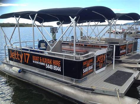 luxury pontoon boat hire noosa water bike picture of jetty 17 boat kayak hire