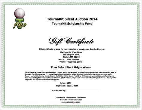 landscape certificate templates charity auction forms images 108 silent auction bid