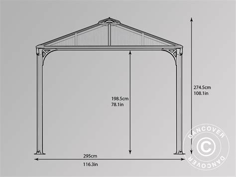 dancover gazebi gazebo martinique 2 95x4 3m dancovershop it