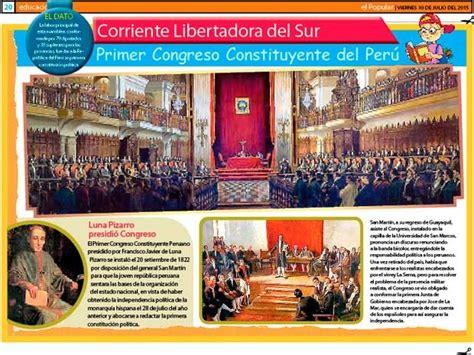 la corriente libertadora del sur resumen primer congreso constituyente del per 250 escolar series
