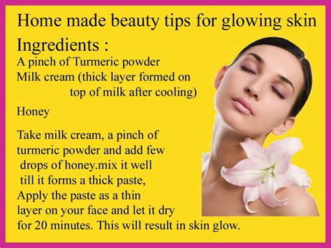 home care tips beauty tips home remedies for glowing skin