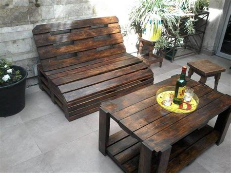 Patio Furniture From Pallets Pallet Wood Outdoor Furniture Set