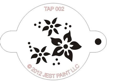 tap face painting stencil flowers face painting
