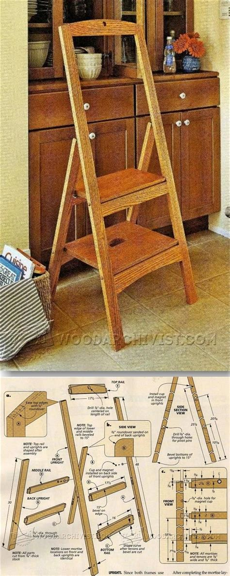 folding step stool plans furniture plans  projects