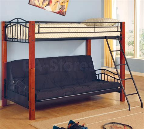 Futon Bunkbed by 455 37 Metal And Wood Futon Bunk Bed Bunk