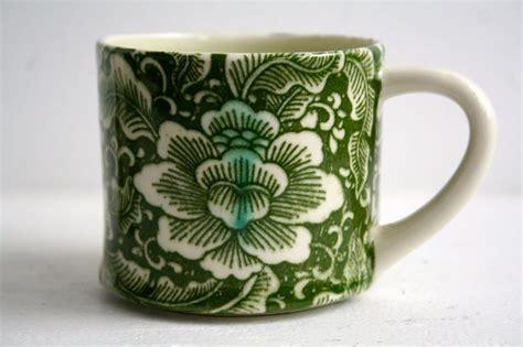 mug design transfer porcelain mug with green lotus transfer design by diane
